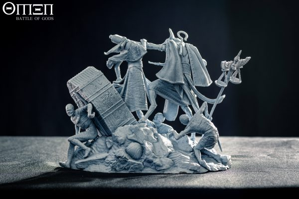 Anubis 75mm Diorama Grey - Photo - OMEN Battle of Gods