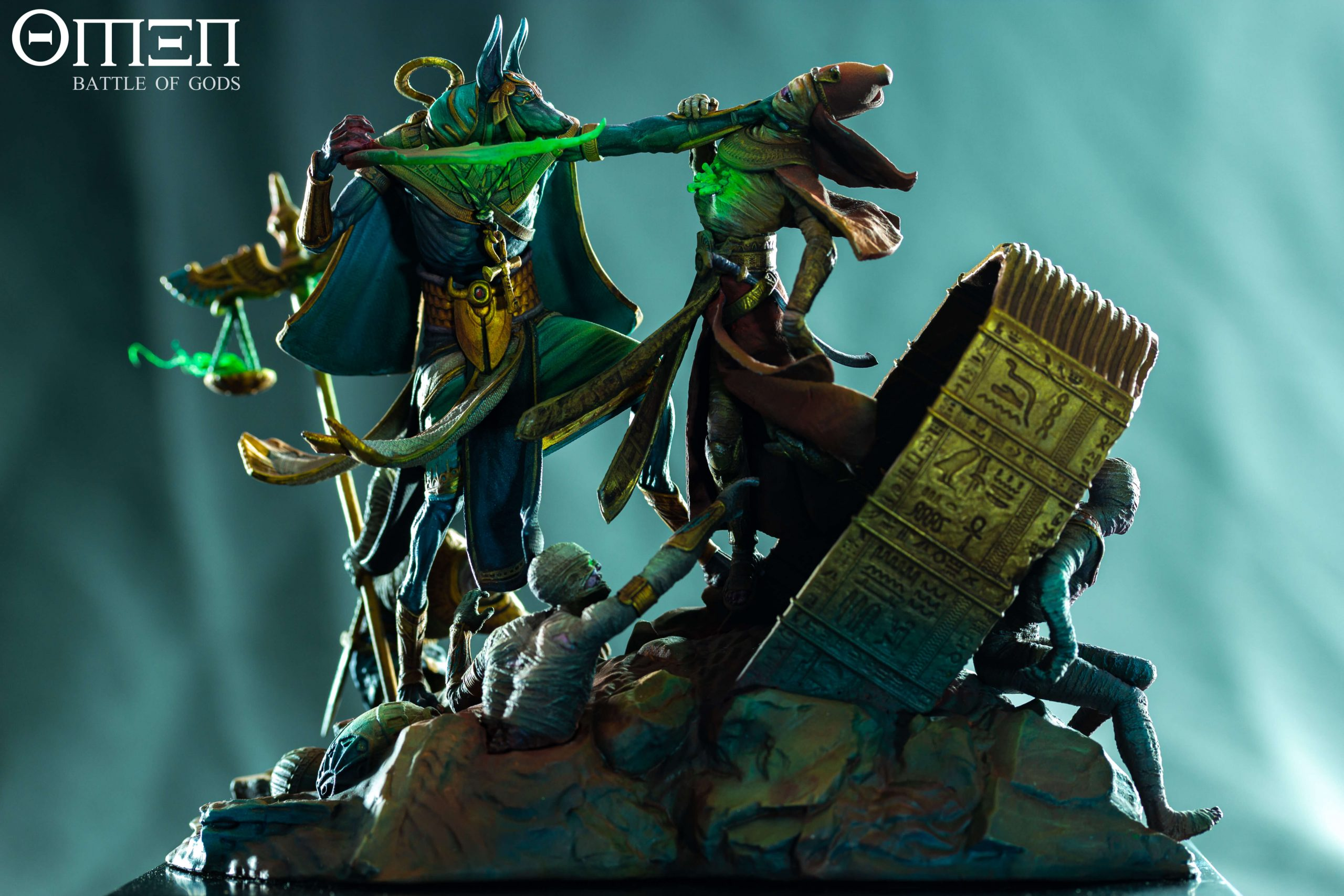 Anubis 75mm Diorama - Painted by Ricardo Pisa - Edited Photo - OMEN Battle of Gods
