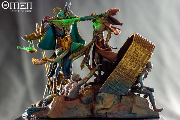 Anubis 75mm Diorama - Painted by Ricardo Pisa - Photo - OMEN Battle of Gods